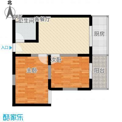 文景雅苑80.16㎡1号楼B户型2室2厅1卫1厨