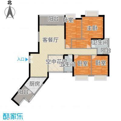 锦城南苑户型图A栋01 4室2厅2卫1厨