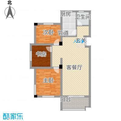 岸上玫瑰115.95㎡岸上玫瑰户型图2K型3室2厅1卫户型3室2厅1卫