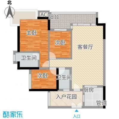中海锦榕湾122.87㎡中海锦榕湾户型图J6栋04单元户型图3室2厅2卫1厨户型3室2厅2卫1厨