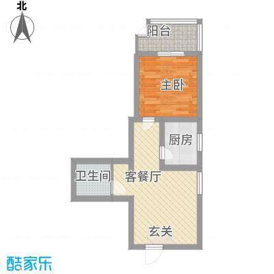 中城心岛国际公寓55.00㎡中城心岛国际公寓户型图1室2厅1卫户型1室2厅1卫