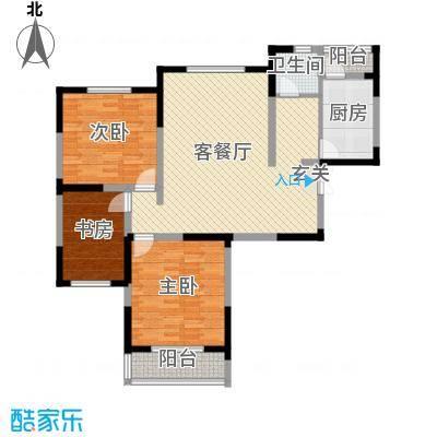 天鹅湖畔130.00㎡天鹅湖畔户型图D户型三室两厅130㎡3室2厅1卫1厨户型3室2厅1卫1厨