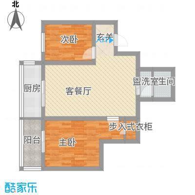 中城心岛国际公寓80.00㎡中城心岛国际公寓户型图2室2厅1卫户型2室2厅1卫
