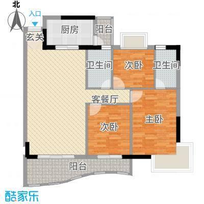 金狮华庭113.50㎡金狮华庭户型图3房2厅户型图3室2厅2卫1厨户型3室2厅2卫1厨