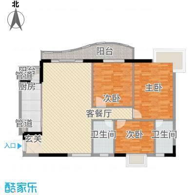 金狮华庭123.65㎡金狮华庭户型图3房2厅户型图3室2厅2卫1厨户型3室2厅2卫1厨