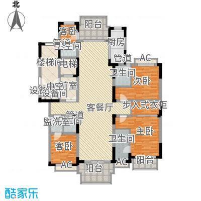 银河湾紫苑220.00㎡GYK1型高层户型4室2厅4卫1厨
