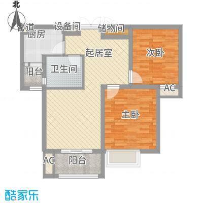 君域豪庭88.08㎡君域豪庭户型图D户型2室2厅1卫1厨户型2室2厅1卫1厨
