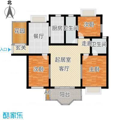 方兴社区105.00㎡方兴社区3室户型3室