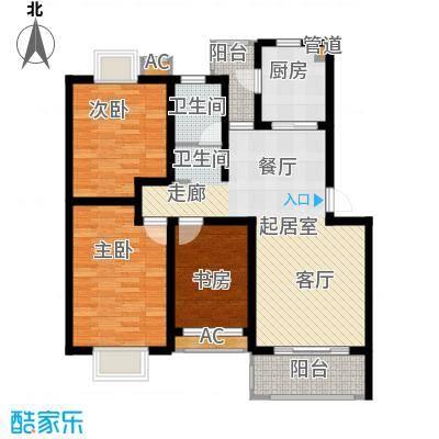 方兴社区91.00㎡方兴社区3室户型3室