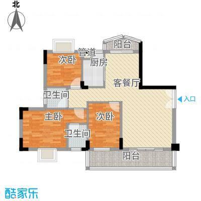 丰涵家园110.00㎡丰涵家园3室户型3室