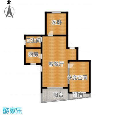 阳光100国际新城87.00㎡7号楼B-1户型1室1厅1卫1厨