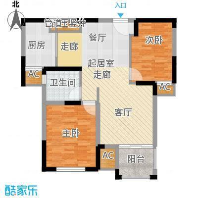 龙兴苑96.00㎡龙兴苑2室户型2室