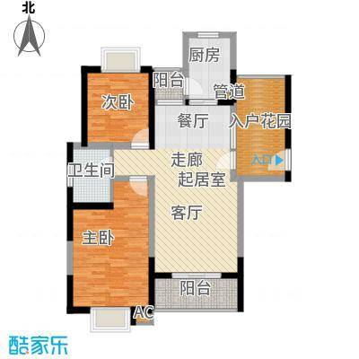 龙兴苑91.00㎡龙兴苑3室户型3室