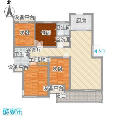 森海豪庭135.00㎡森海豪庭3室户型3室