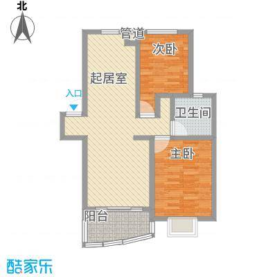 森海豪庭90.00㎡森海豪庭2室户型2室