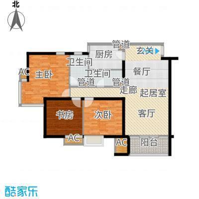 龙兴苑122.00㎡龙兴苑3室户型3室