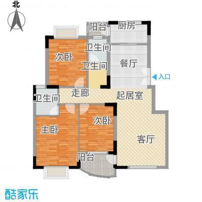 枫叶广场二期115.00㎡枫叶广场二期3室户型3室