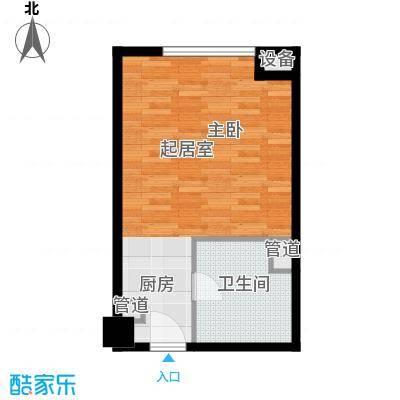 无锡惠山万达广场42.00㎡42平米公寓户型1室1厅1卫1厨