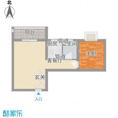 海�印象城61.00㎡13#楼A1户型1室2厅1卫1厨