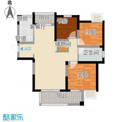 融绿理想湾106.00㎡B3户型(售完)户型3室2厅1卫