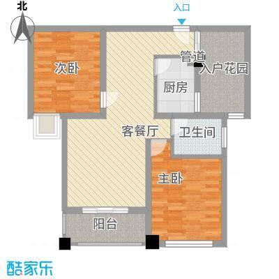 润泽东都二期宽域89.00㎡润泽东都二期宽域户型图2.3/B.C2室2厅1卫户型2室2厅1卫