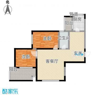 海�新天108.71㎡3#楼B户型2室2厅1卫1厨