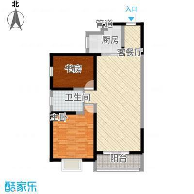 海�新天103.54㎡3#/4#楼F户型2室2厅1卫1厨