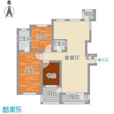 草阳高层103.00㎡草阳高层2室户型2室