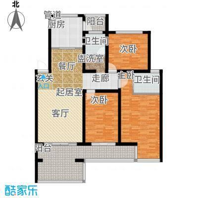 龙栖湾137.00㎡H2户型3室2厅2卫