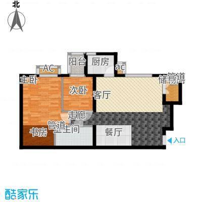 蔚蓝印象95.04㎡蔚蓝印象户型图B6户型2室2厅1卫1厨户型2室2厅1卫1厨