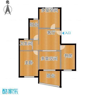 阳光100国际新城88.00㎡D4户型2室1厅1卫