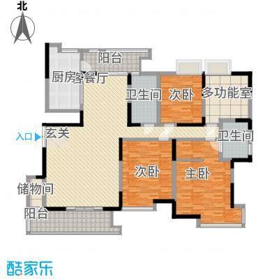 曲江荣禾曲池坊217.00㎡曲江荣禾曲池坊户型图4室2厅2卫户型4室2厅2卫