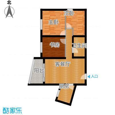 阳光100国际新城88.00㎡波普公寓B户型3室1厅1卫1厨