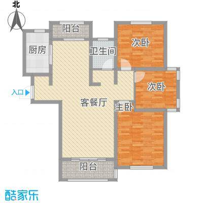 长安萨尔斯堡108.00㎡长安萨尔斯堡户型图20080507-B户型3室2厅2卫户型3室2厅2卫