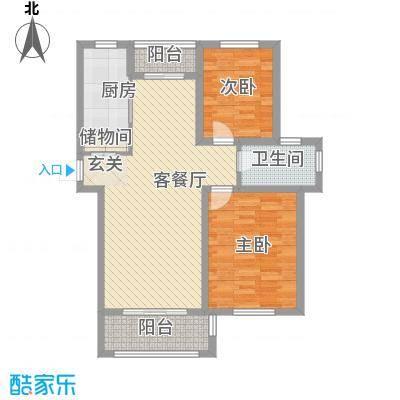 长安萨尔斯堡93.00㎡长安萨尔斯堡户型图20080507-G2户型3室2厅2卫户型3室2厅2卫