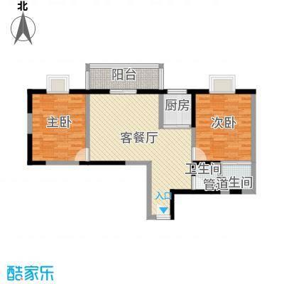 文景雅苑91.29㎡2号楼A户型2室2厅2卫1厨