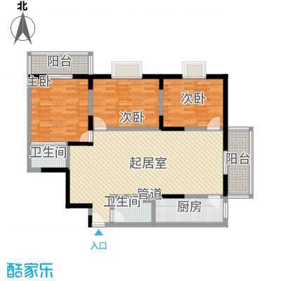 文景雅苑150.91㎡2号楼E户型3室2厅2卫1厨