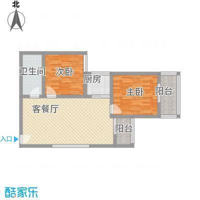 文景雅苑93.17㎡1号楼F户型2室2厅1卫1厨