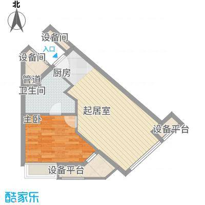 小天鹅品园61.00㎡B户型1室1厅1卫