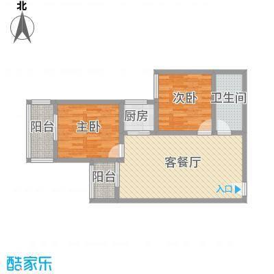文景雅苑87.16㎡1号楼H1户型2室2厅1卫1厨