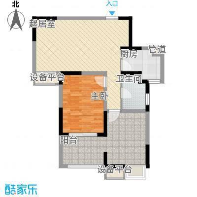 小天鹅品园86.26㎡B户型1室2厅1卫