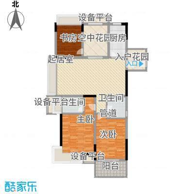 小天鹅品园135.47㎡G户型3室2厅2卫