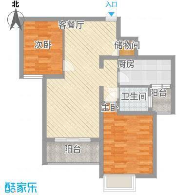 中邦城市花园87.00㎡中邦城市花园户型图二期高层C2户型2室2厅1卫1厨户型2室2厅1卫1厨