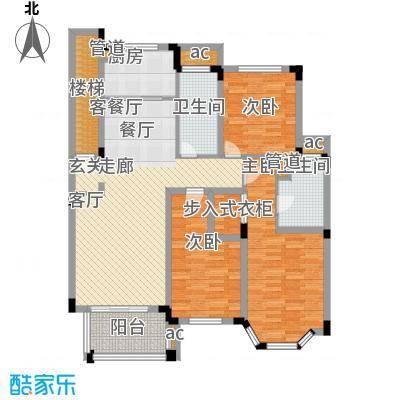 绿城桂花园128.13㎡绿城桂花园户型图D户型3室2厅2卫1厨户型3室2厅2卫1厨