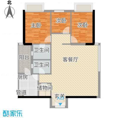 聚雅苑户型图2室2厅