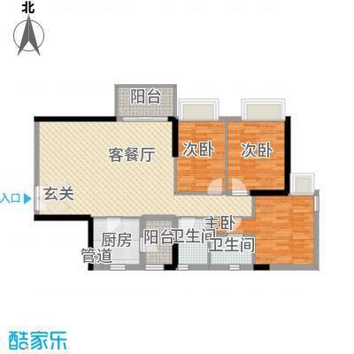 聚雅苑户型图3室2厅