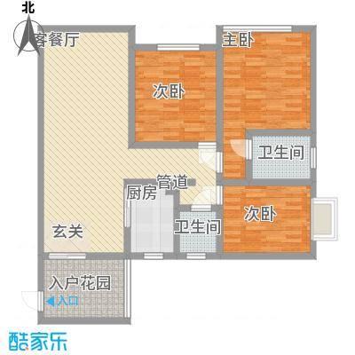 世纪阳光花园 3室 户型图