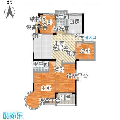 翰林府邸 4室 户型图
