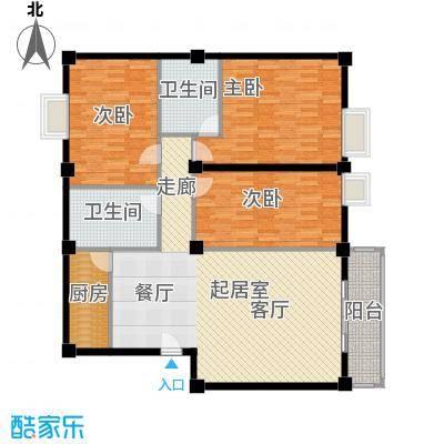 锦鹏苑户型图A户型 3室2厅2卫2厨