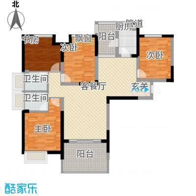 七里香榭户型图B1(装修户型建议) 3室2厅2卫1厨